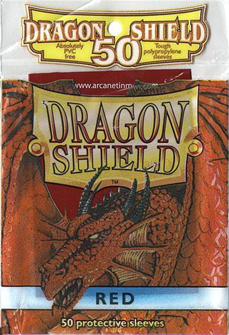 Card Supplies Dragon Shield Red Standard Card Sleeves [50 Count]