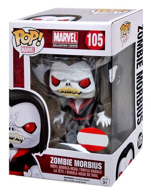Funko POP! Marvel Zombie Morbius Exclusive Vinyl Bobble Head #105