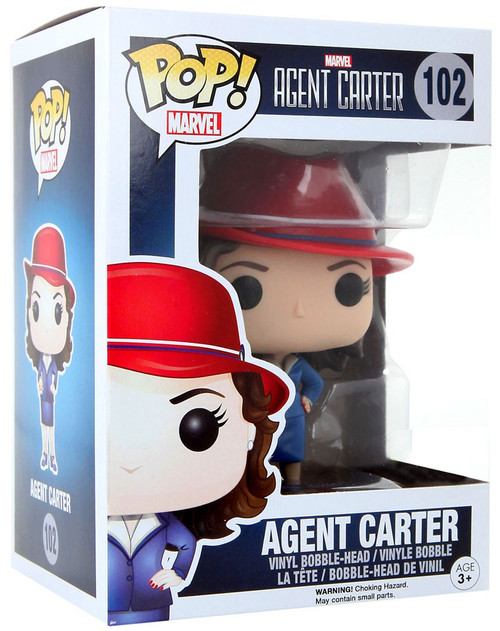 Funko POP! Marvel Agent Carter Exclusive Vinyl Bobble Head #102 [Trans-Gold Orb]