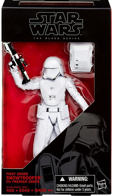 Star Wars The Force Awakens Black Series First Order Snowtrooper Action Figure