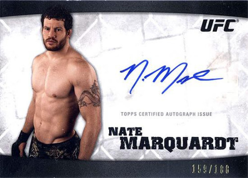 Topps UFC 2010 Knockout Autograph Nate Marquardt A-NM A-NM