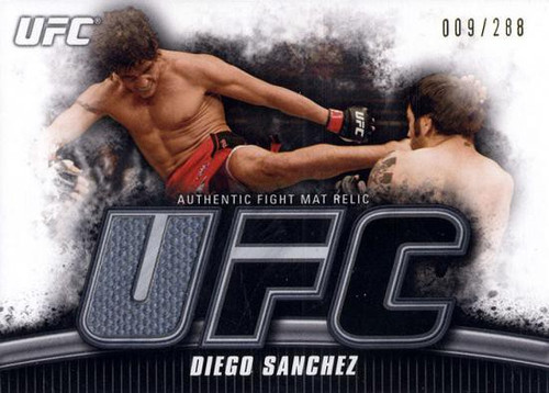 Topps UFC 2010 Knockout Gold Mat Relic Diego Sanchez FM-DS