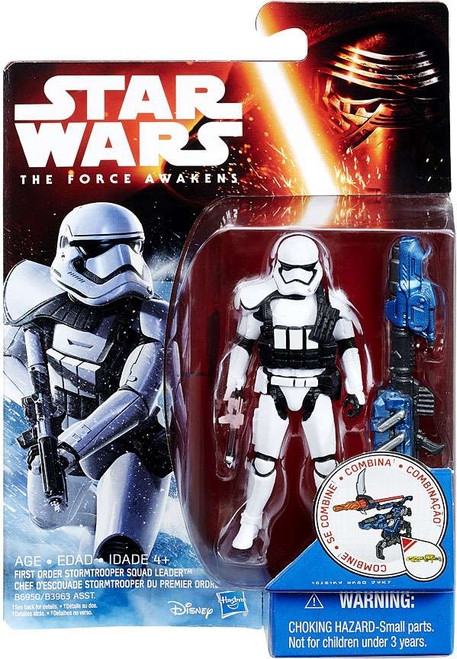 Star Wars The Force Awakens Snow & Desert Stormtrooper Squad Leader Action Figure
