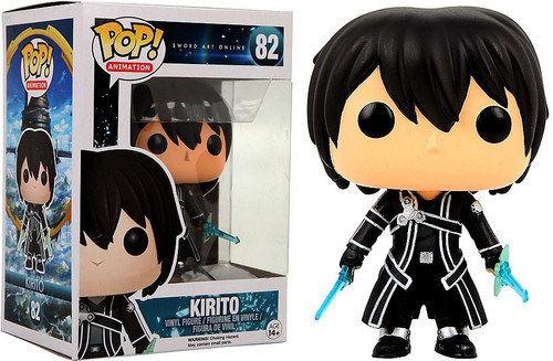 Funko Sword Art Online POP! Anime Kirito Exclusive Vinyl Figure #82 [Black Shirt]