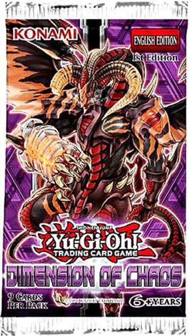 YuGiOh Trading Card Game Dimension of Chaos Booster Pack