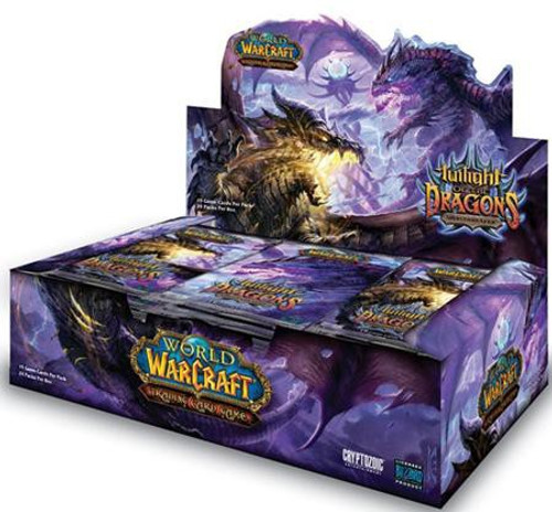 World of Warcraft Trading Card Game Twilight of the Dragons Booster Box [24 Packs]