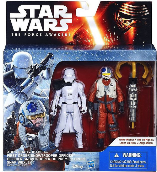 Star Wars The Force Awakens Snap Wexley & Snowtrooper Officer Action Figure 2-Pack