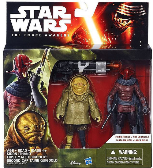 Star Wars The Force Awakens Sidon Ithano & First Mate Quiggold Action Figure 2-Pack