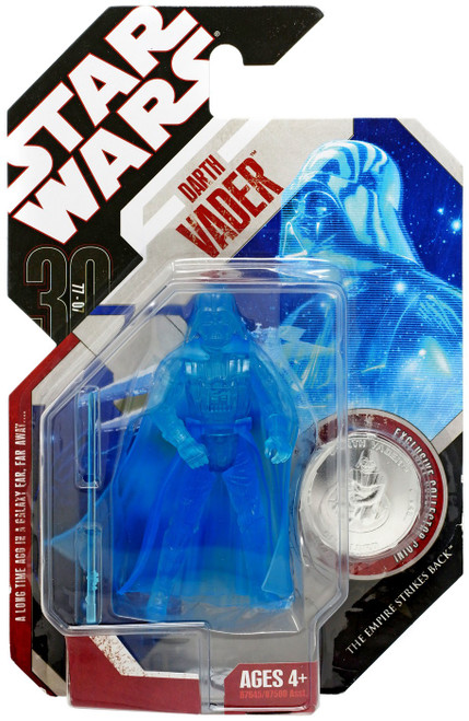 Star Wars The Empire Strikes Back 2007 30th Anniversary Wave 8 Darth Vader Action Figure #48 [Holographic]