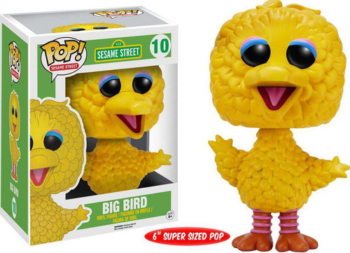 Funko Sesame Street POP! TV Big Bird 6-Inch Vinyl Figure #10 [Super-Sized]