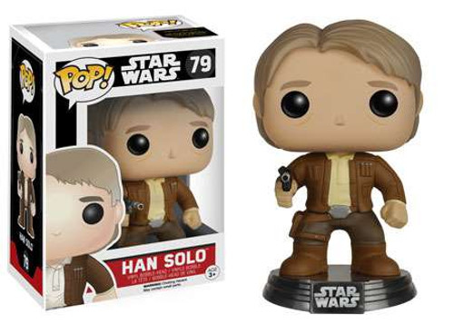 Funko The Force Awakens POP! Star Wars Han Solo Vinyl Bobble Head #79 [EP7]