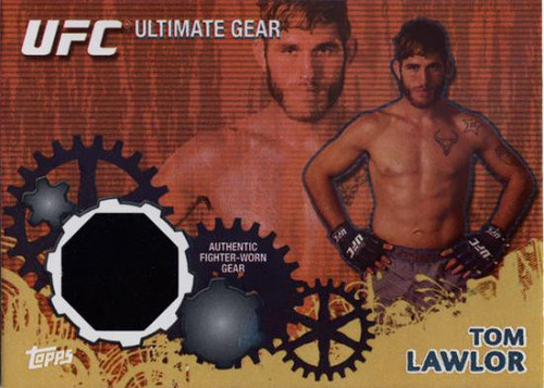 Topps UFC 2010 Championship Gold Ultimate Gear Relic Tom Lawlor UG-TL