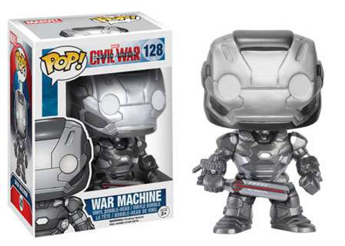 Funko Civil War POP! Marvel War Machine Vinyl Bobble Head #128 [Civil War]