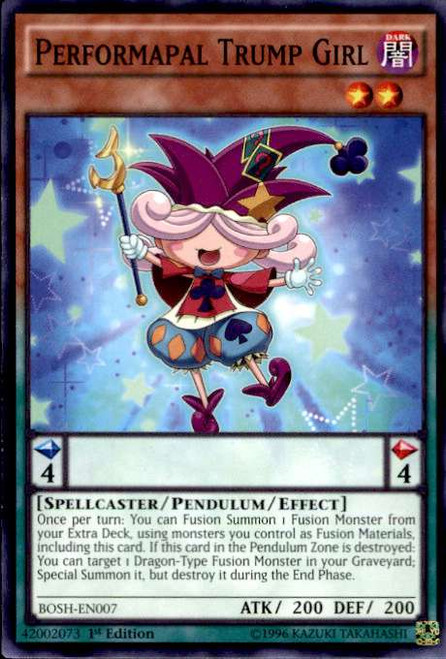 YuGiOh Breakers of Shadow Common Performapal Trump Girl BOSH-EN007