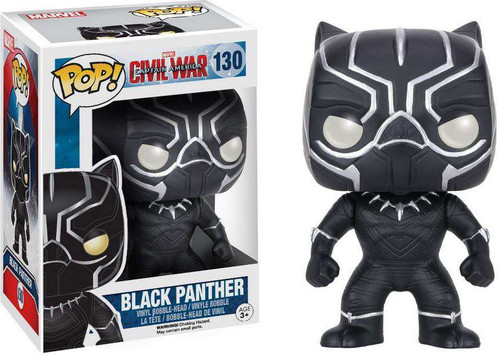 Funko Civil War POP! Marvel Black Panther Vinyl Bobble Head #130