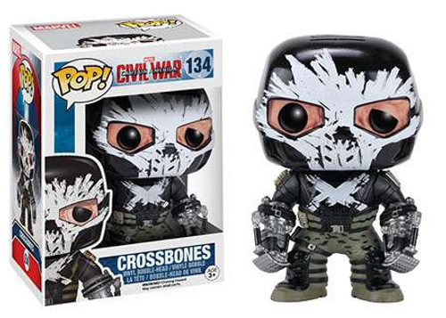 Funko Civil War POP! Marvel Crossbones Vinyl Bobble Head #134
