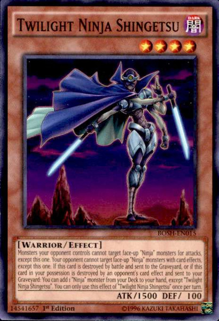 YuGiOh Breakers of Shadow Common Twilight Ninja Shingetsu BOSH-EN015