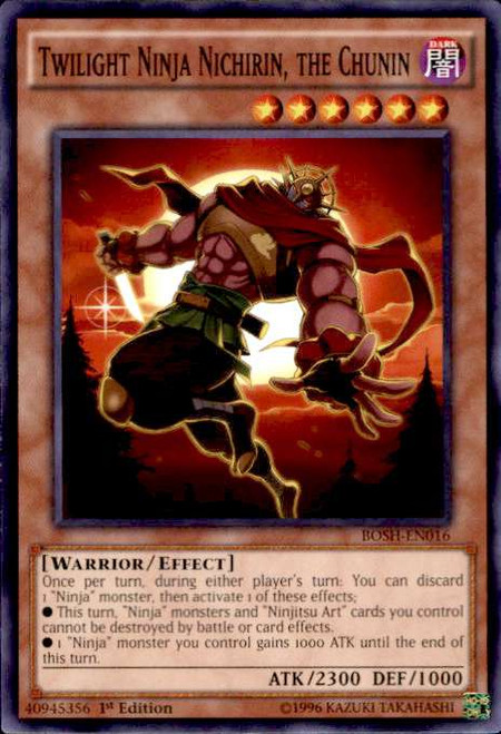 YuGiOh Breakers of Shadow Common Twilight Ninja Nichirin, the Chunin BOSH-EN016