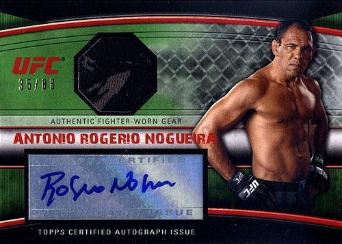 Topps UFC 2010 Knockout Autograph Relic Antonio Rodrigo Nogueira AFG-ARN