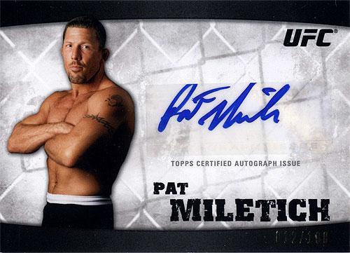 Topps UFC 2010 Knockout Autograph Pat Miletich A-PM