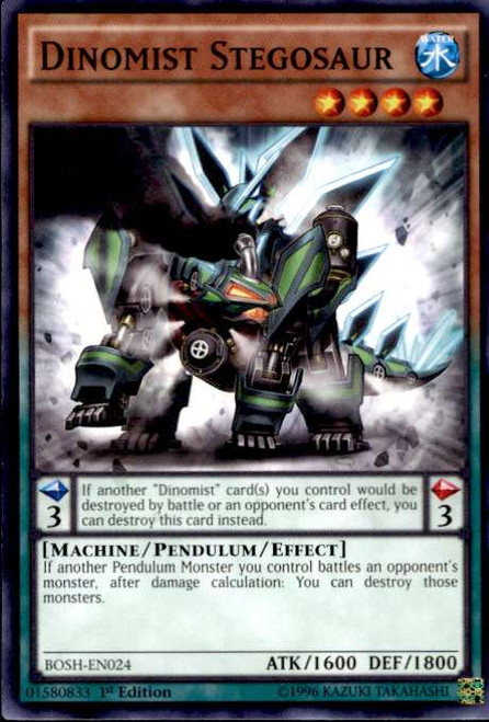 YuGiOh Breakers of Shadow Common Dinomist Stegosaur BOSH-EN024