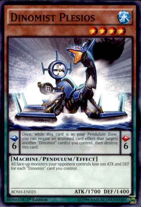 YuGiOh Breakers of Shadow Common Dinomist Plesios BOSH-EN025