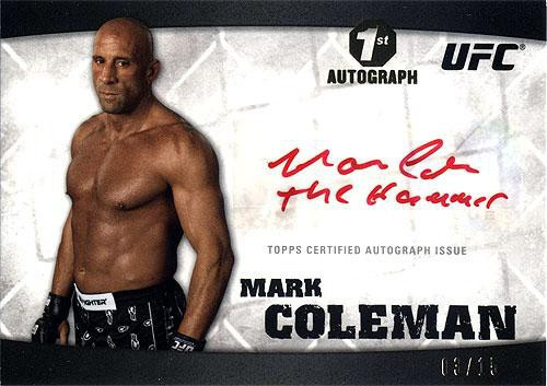 Topps UFC 2010 Knockout Autograph Mark Coleman A-MCO