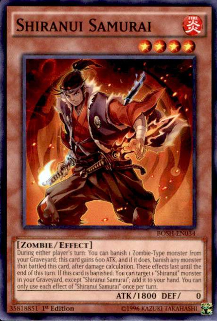 YuGiOh Breakers of Shadow Common Shiranui Samurai BOSH-EN034