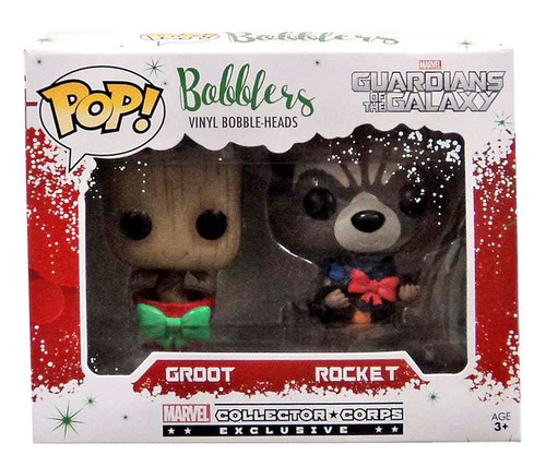 Funko Guardians of the Galaxy Marvel Collector Corps Groot & Rocket Bobble Head 2-Pack