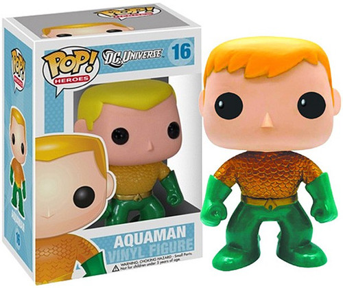Funko DC Universe POP! Heroes Aquaman Exclusive Vinyl Figure [New 52 Version, Damaged Package]