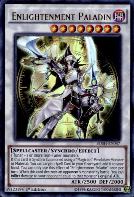 YuGiOh Breakers of Shadow Ultra Rare Enlightenment Paladin BOSH-EN047