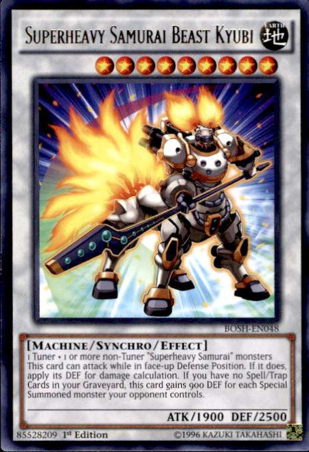 YuGiOh Breakers of Shadow Rare Superheavy Samurai Beast Kyubi BOSH-EN048