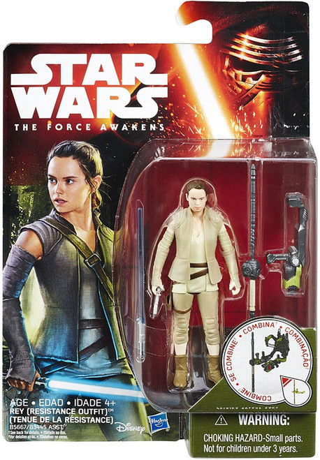 Star Wars The Force Awakens Jungle & Space Rey (Resistance Outfit) Action Figure
