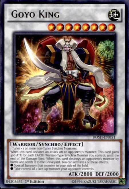 YuGiOh Breakers of Shadow Rare Goyo King BOSH-EN051