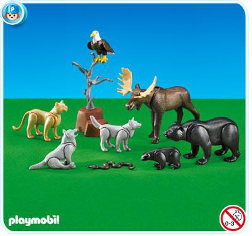 Playmobil Farm North American Forest Animals Set #7530