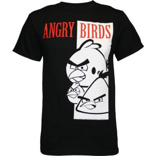 Angry Birds Bird Face T-Shirt [Adult Small]