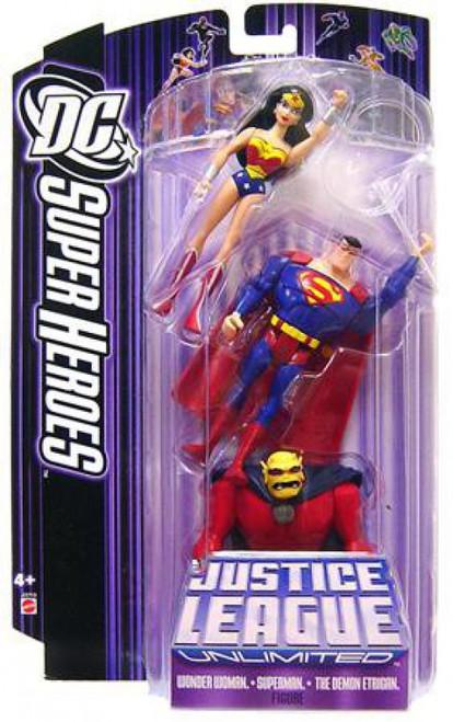 DC Justice League Unlimited Super Heroes Wonder Woman, Superman & Demon Etrigan Action Figures [Purple Card]