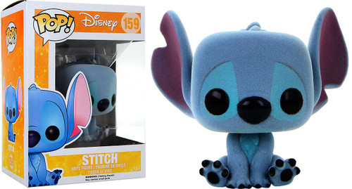 Funko Lilo & Stitch POP! Disney Stitch Exclusive Vinyl Figure #159 [Flocked, Sitting]