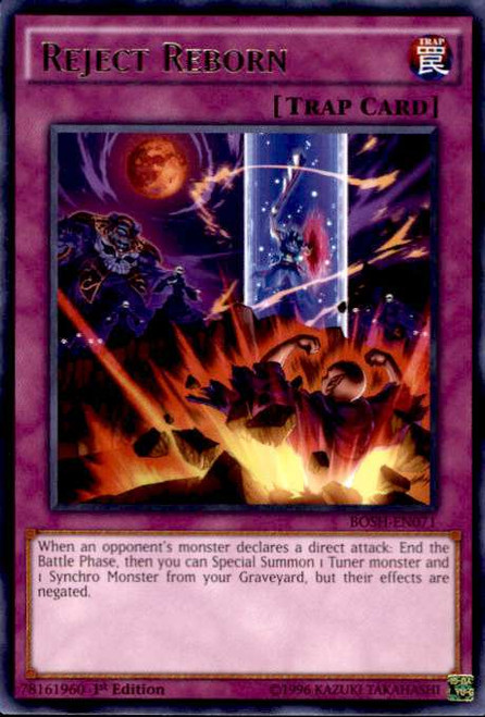 YuGiOh Breakers of Shadow Rare Reject Reborn BOSH-EN071