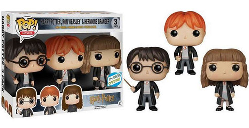 Funko Harry Potter POP! Movies Harry, Ron & Hermione Exclusive Vinyl Figure 3-Pack