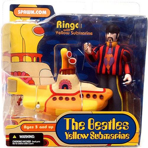 McFarlane Toys The Beatles Series 1 Ringo with Yellow Submarine Action Figure