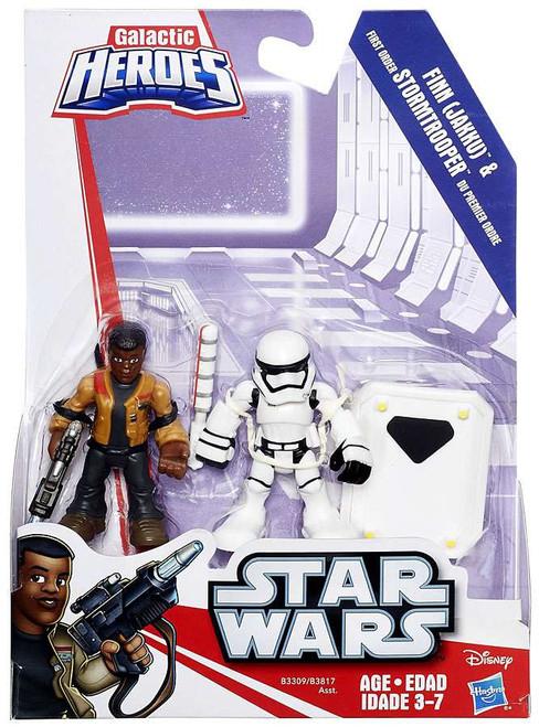 Star Wars Galactic Heroes Finn (Jakku) & First Order Stormtrooper Mini Figure 2-Pack