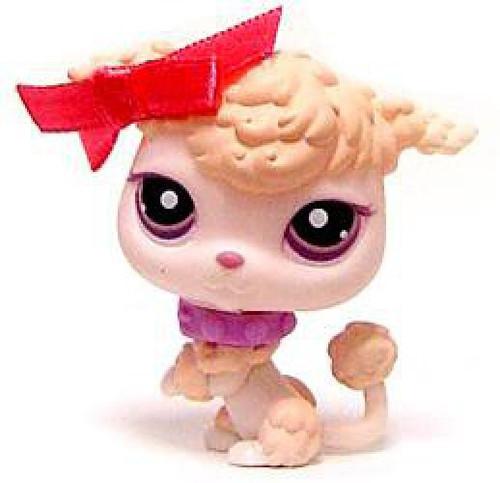 Littlest Pet Shop Parisian Poodle Figure #390 [Bow Loose]