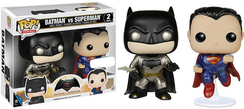 Funko DC Batman v Superman: Dawn of Justice POP! Movies Batman & Superman Exclusive Vinyl Figure 2-Pack
