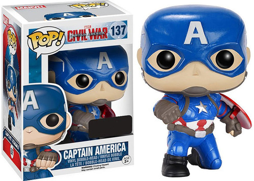 Funko Civil War POP! Marvel Captain America Exclusive Vinyl Bobble Head #137 [with Shield]