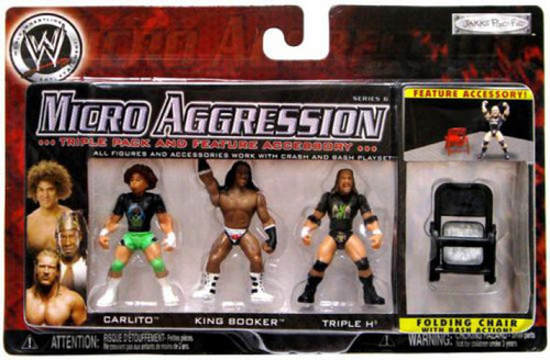 WWE Wrestling Micro Aggression Series 6 TripleH, Booker T & Carlito Mini Figure 3-Pack