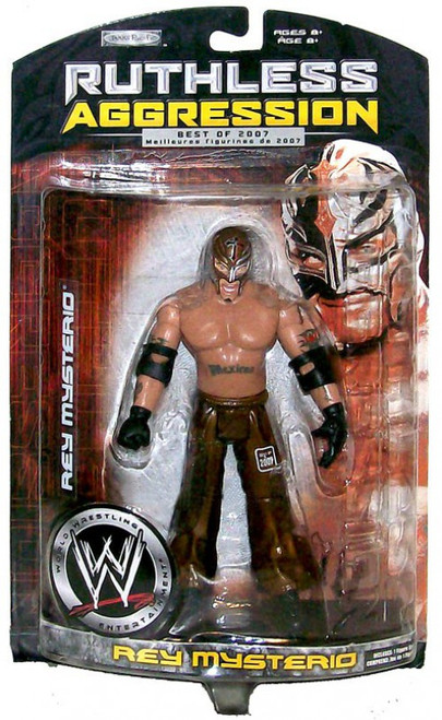 WWE Wrestling Ruthless Aggression Best of 2007 Series 2 Rey Mysterio Action Figure [Gold Mask, Gold Pants]