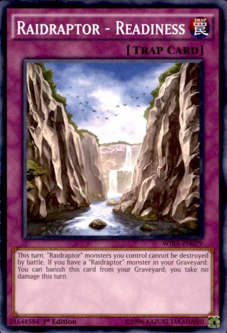 YuGiOh Wing Raiders Common Raidraptor - Readiness WIRA-EN029