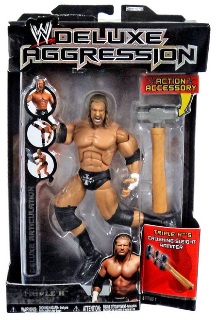WWE Wrestling Deluxe Aggression Series 13 Triple H Action Figure [Sledge Hammer]