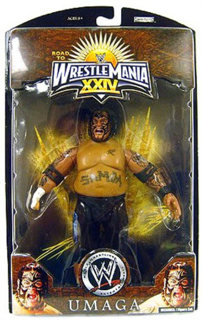 WWE Wrestling Road to WrestleMania 24 Series 1 Umaga Exclusive Action Figure